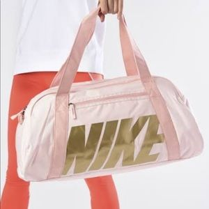 NWT Nike gym duffel bag pink rose gold